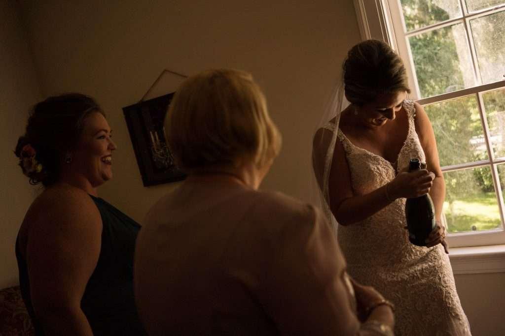 Bridal portrait at Ribault club wedding