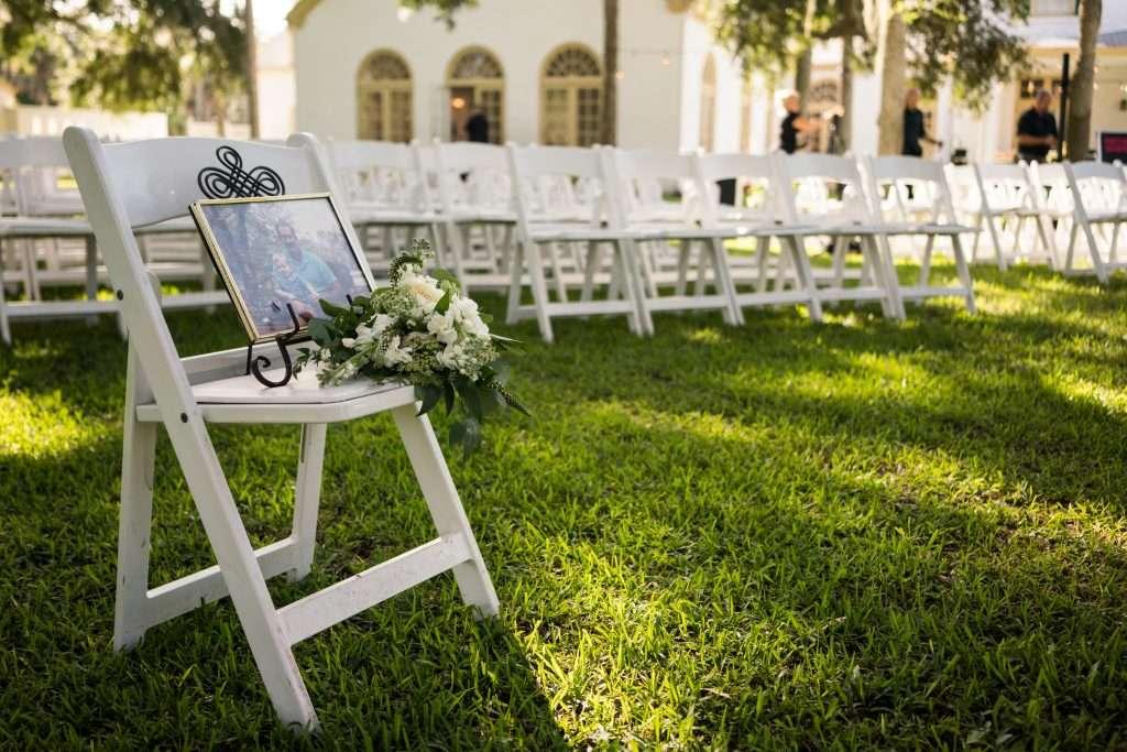 Ceremony details of Ribault Club wedding