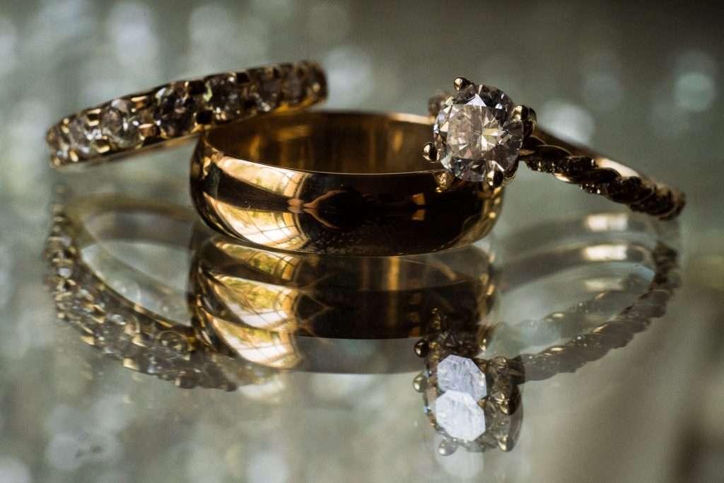 Wedding rings at Ribault club wedding