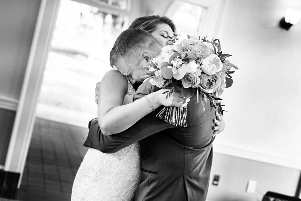 Bride and Groom at Ribault Club wedding