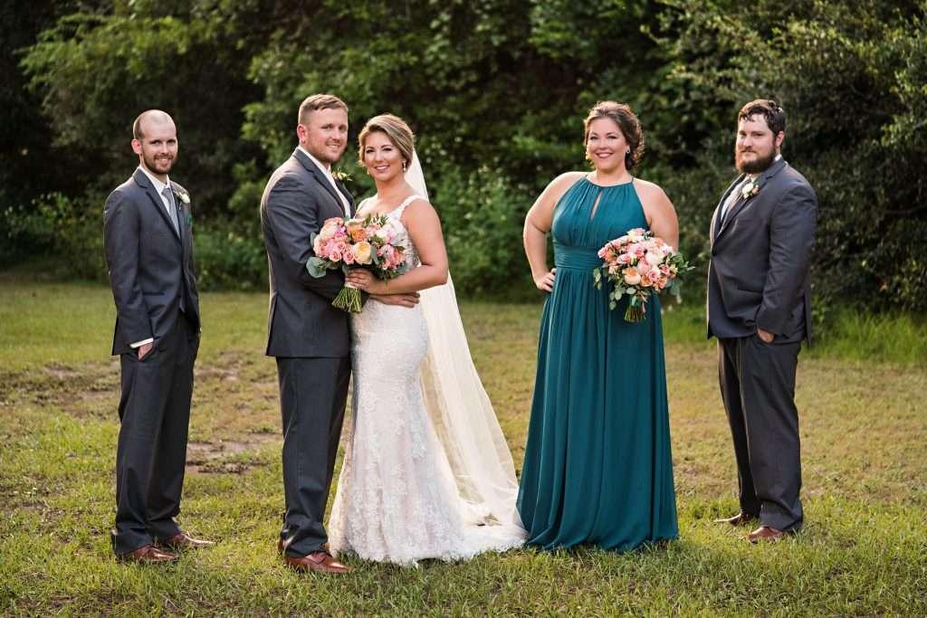 Bridal party at Ribault Club wedding