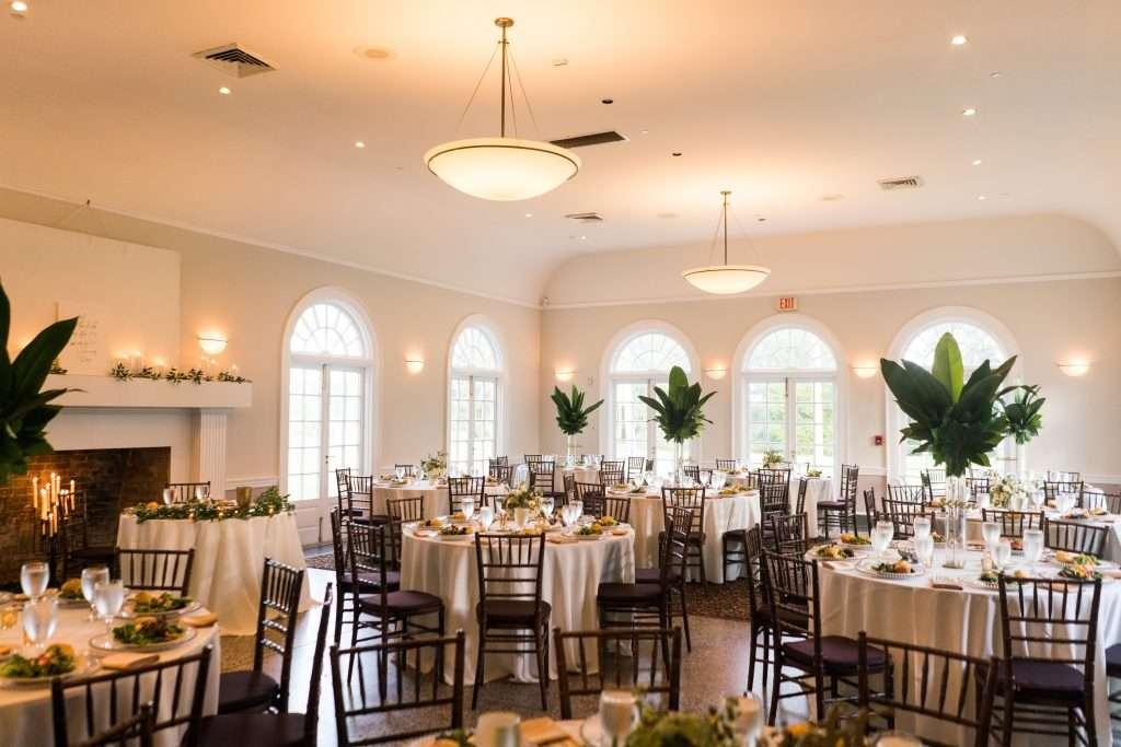 Reception details at Ribault club wedding