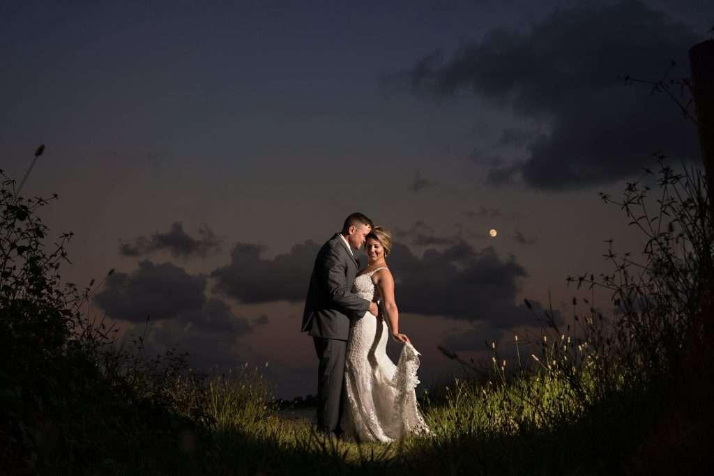 Sunset photos at Ribault Club wedding