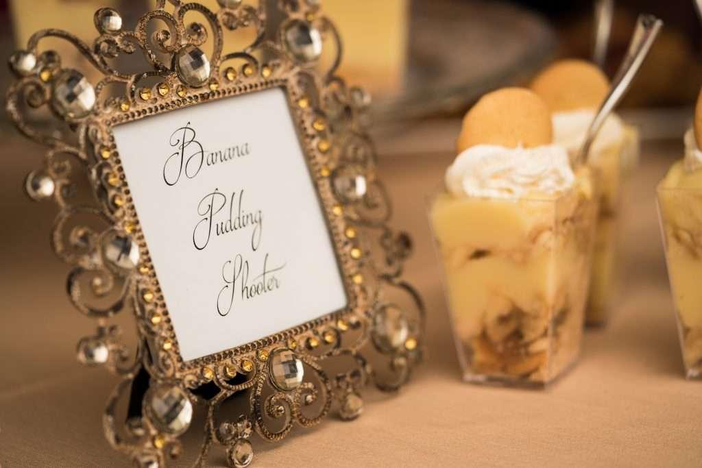 Dessert cups at RIbault Club wedding