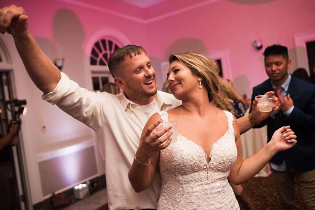 Reception dancing at Ribault Club wedding