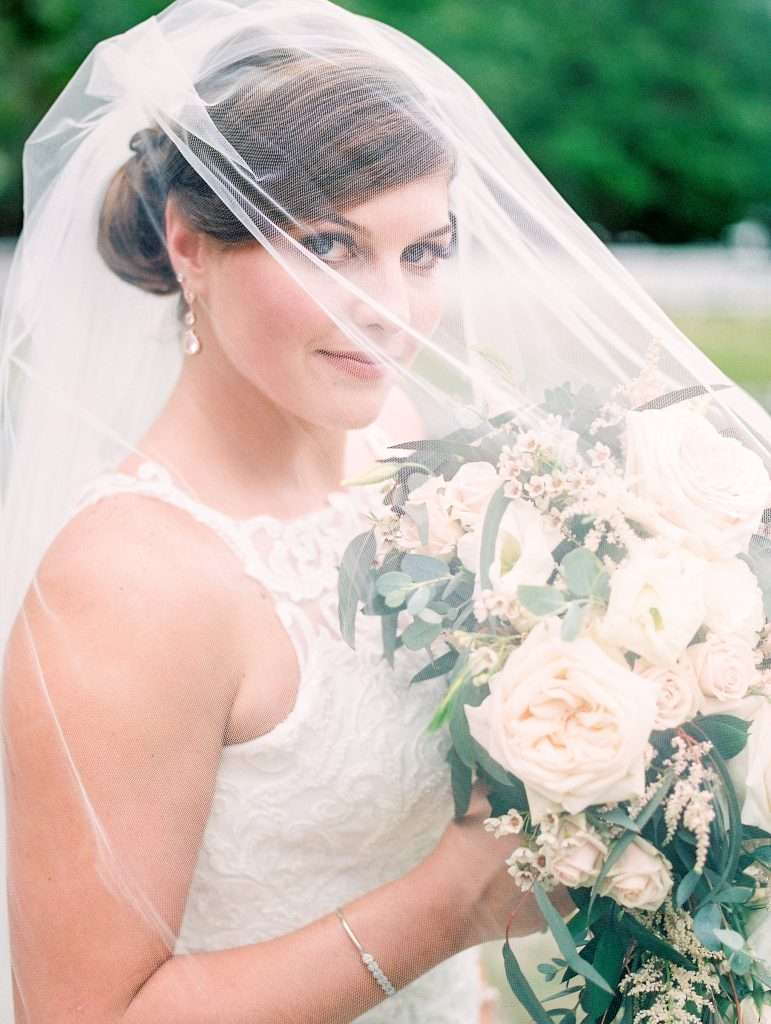 Bridal portrait at Chandler Oaks barn