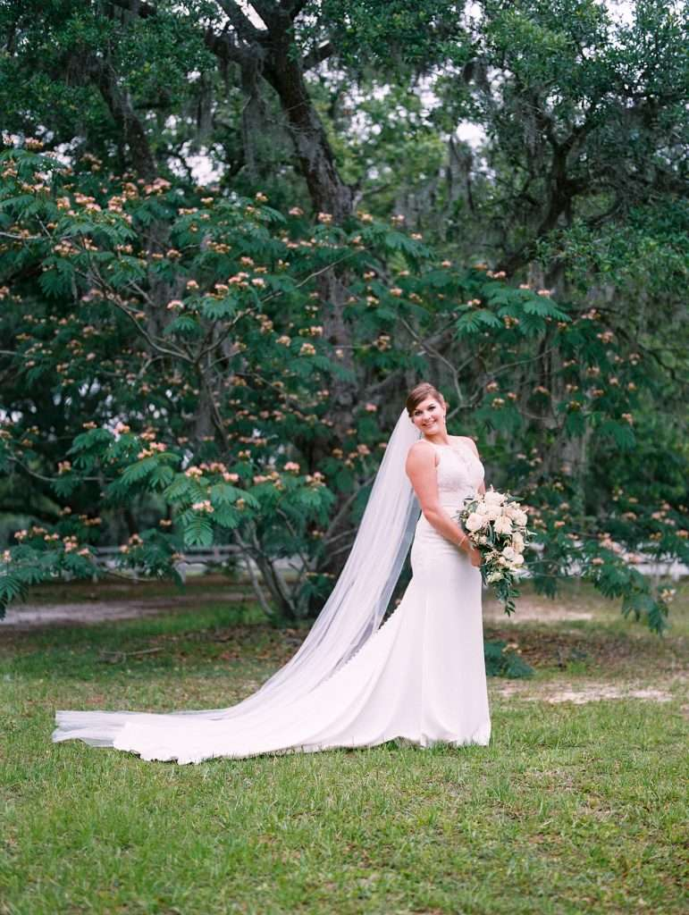 Bride at Chandler Oaks Barn