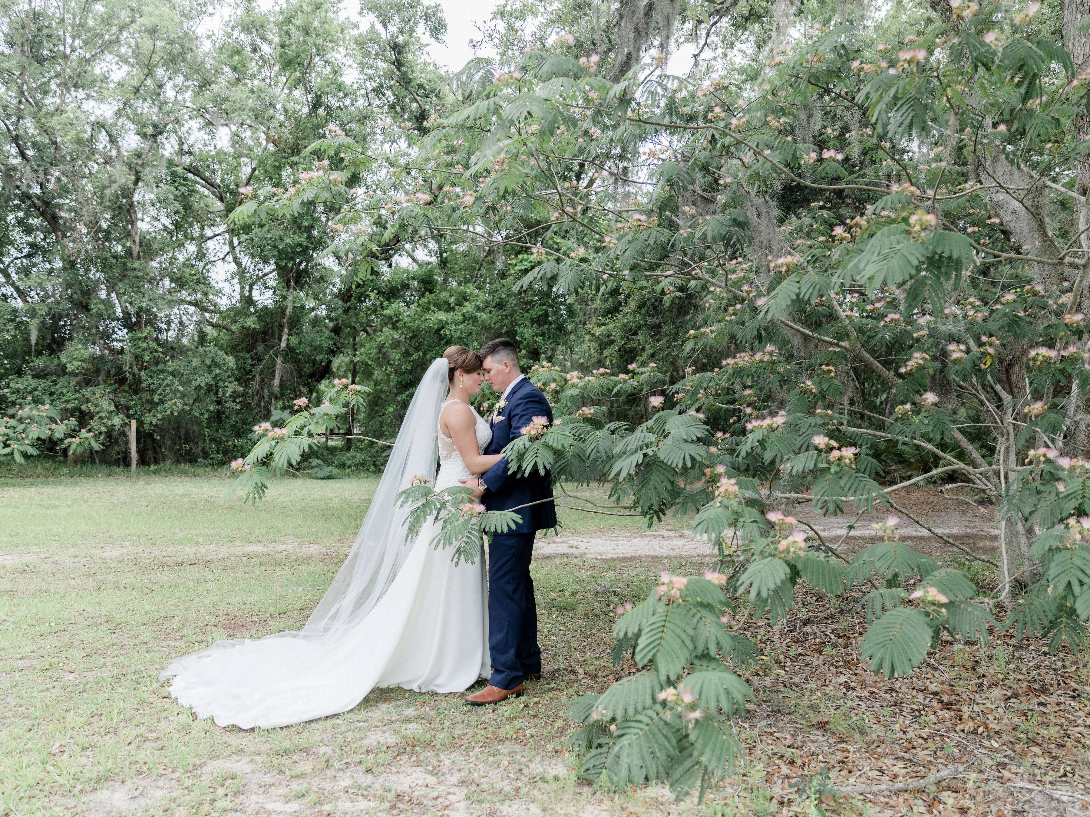 Bride and Groom photos at Chandler Oaks Barn