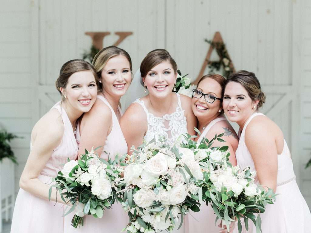 Bridesmaids at Chandler oaks Barn