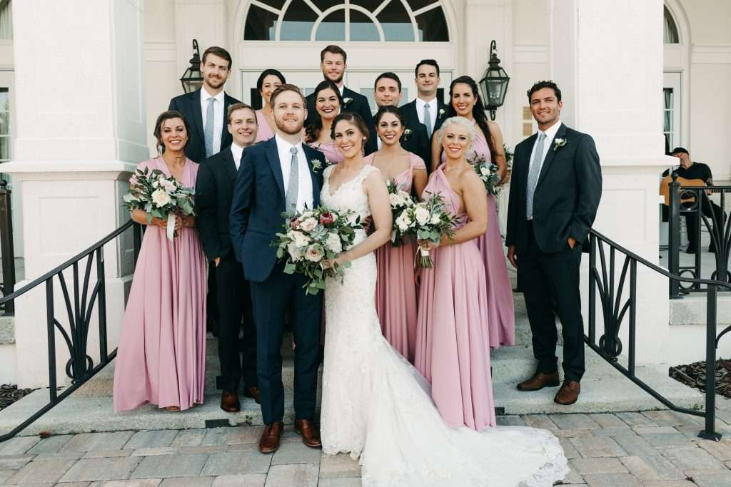 Bridal party at Riverhouse Wedding