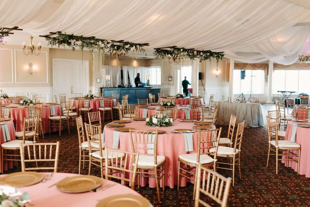 Reception at Riverhouse wedding