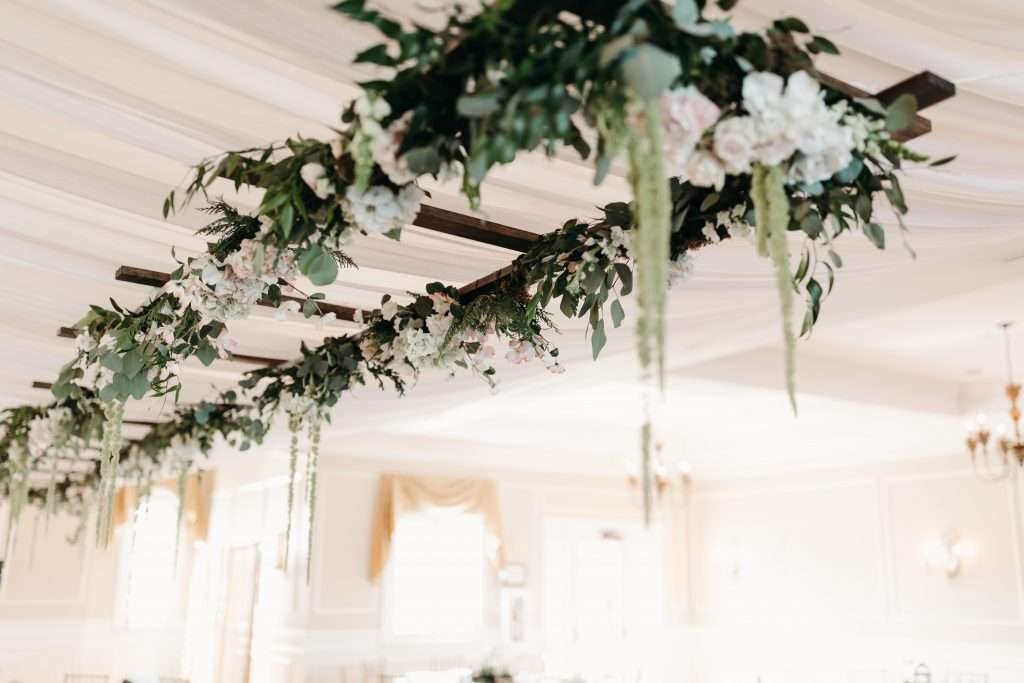 Floral ladder at Riverhouse events
