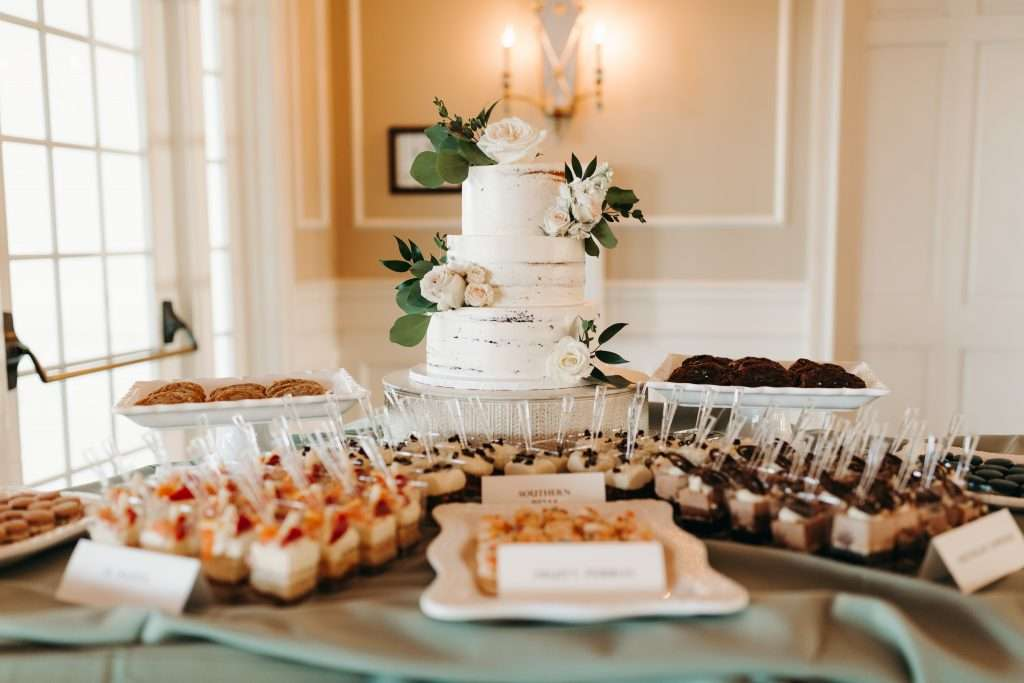 Dessert table at Riverhouse Wedding