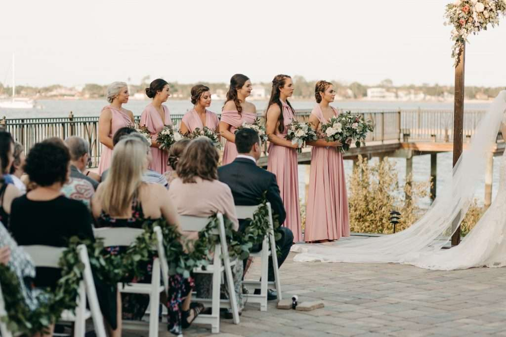 Ceremony at Riverhouse wedding