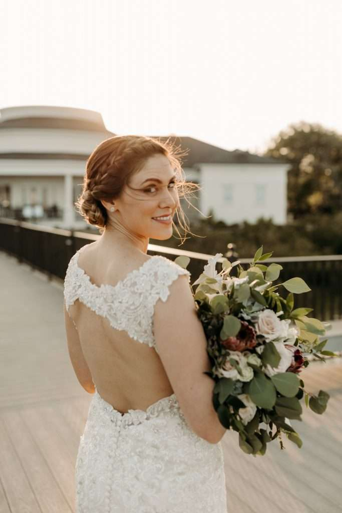 Bridal portraits at Riverhouse wedding