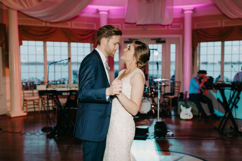 First Dance at Riverhouse wedding