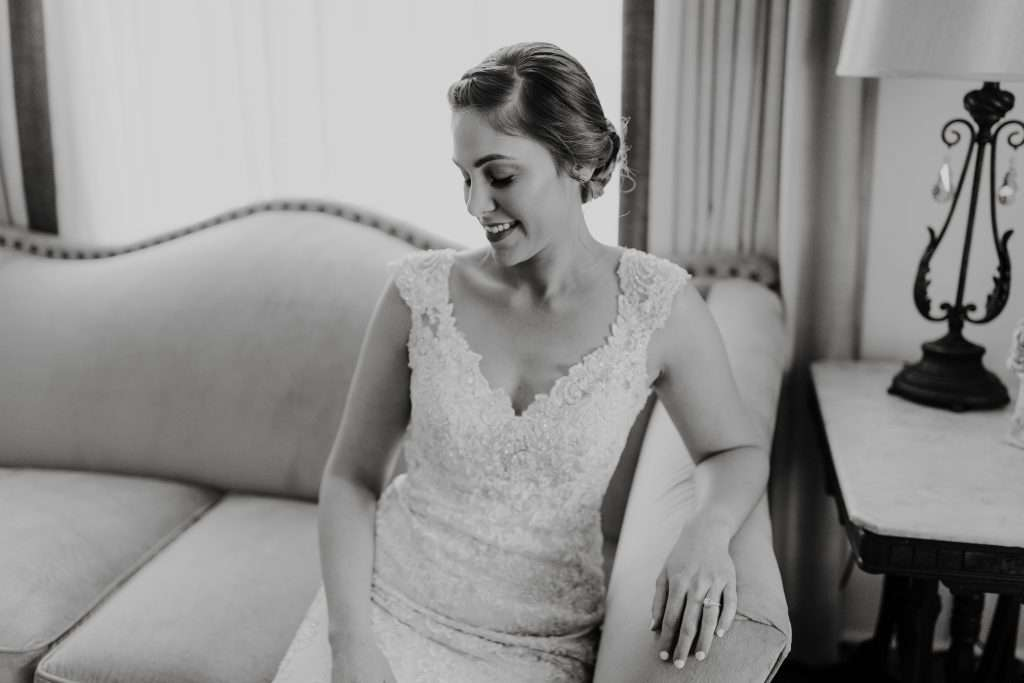 Bridal portrait Riverhouse wedding