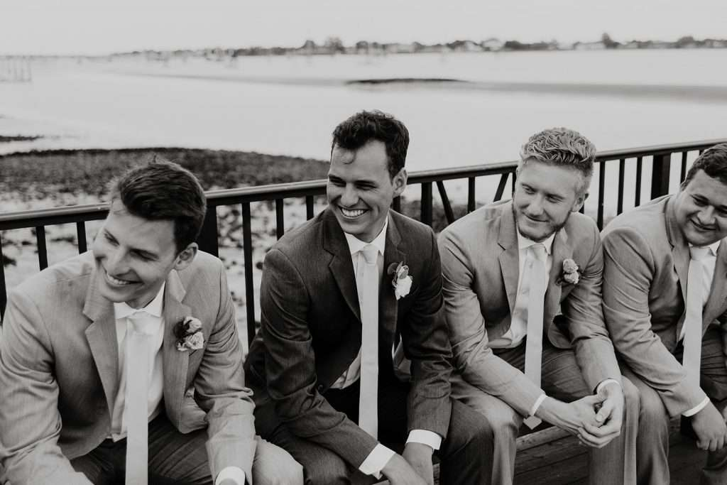 Groomsman at River House wedding