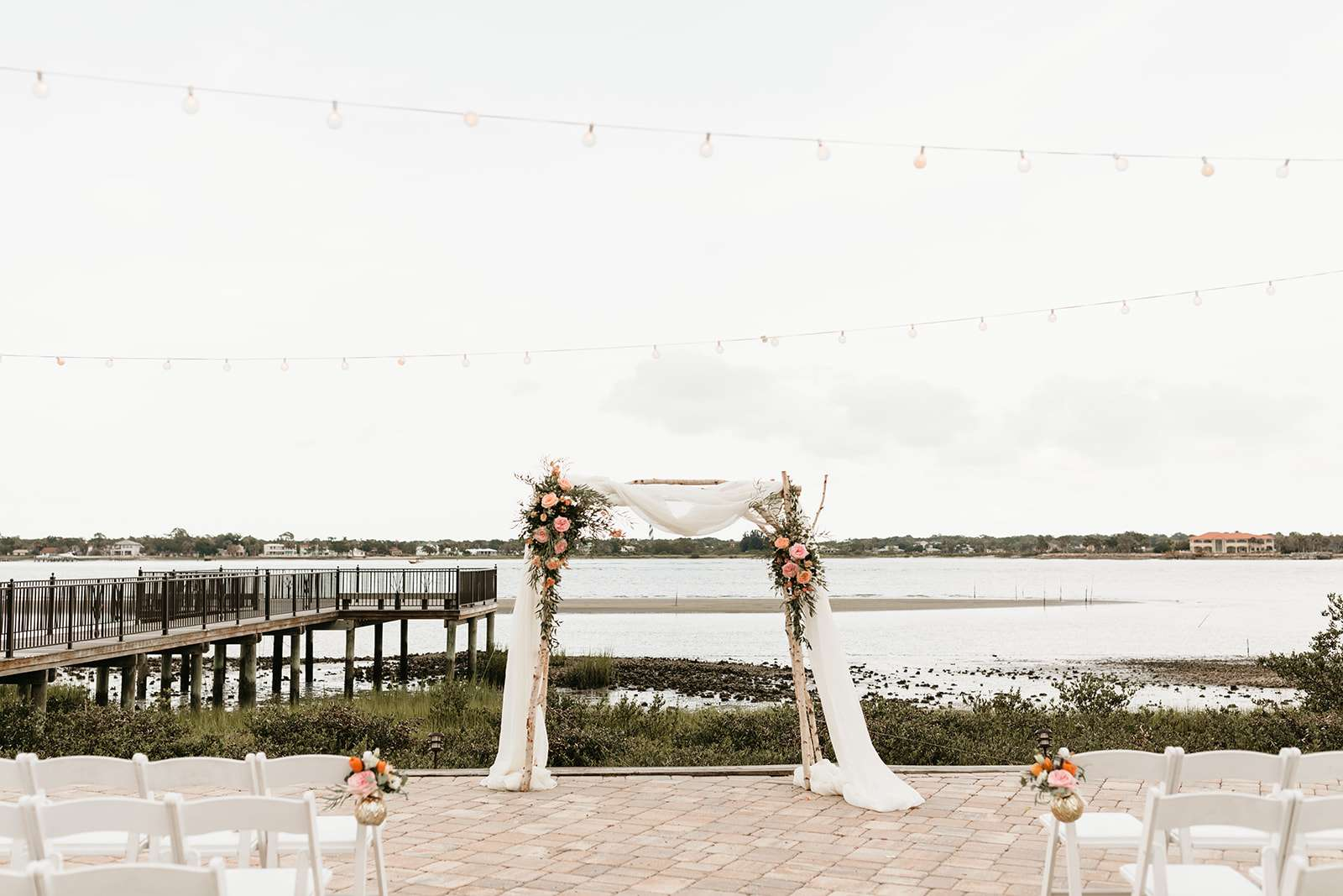 Ceremony arbor at River House events