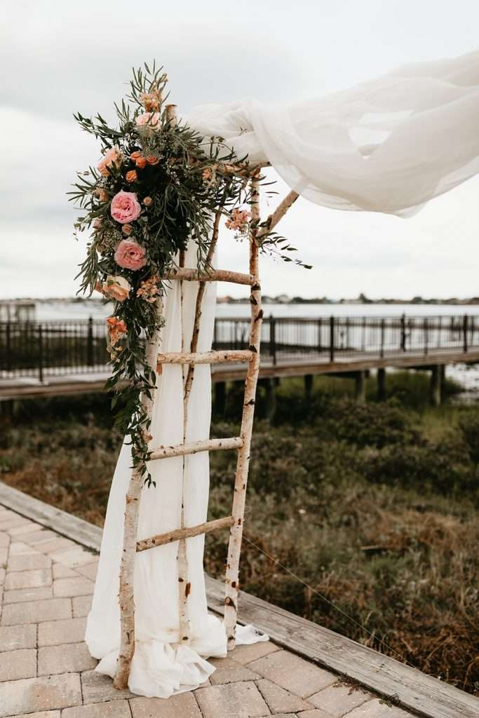 Ceremony details at River House Events