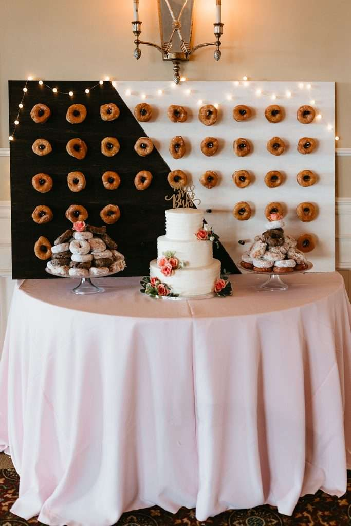 Cake & Donuts at River House wedding