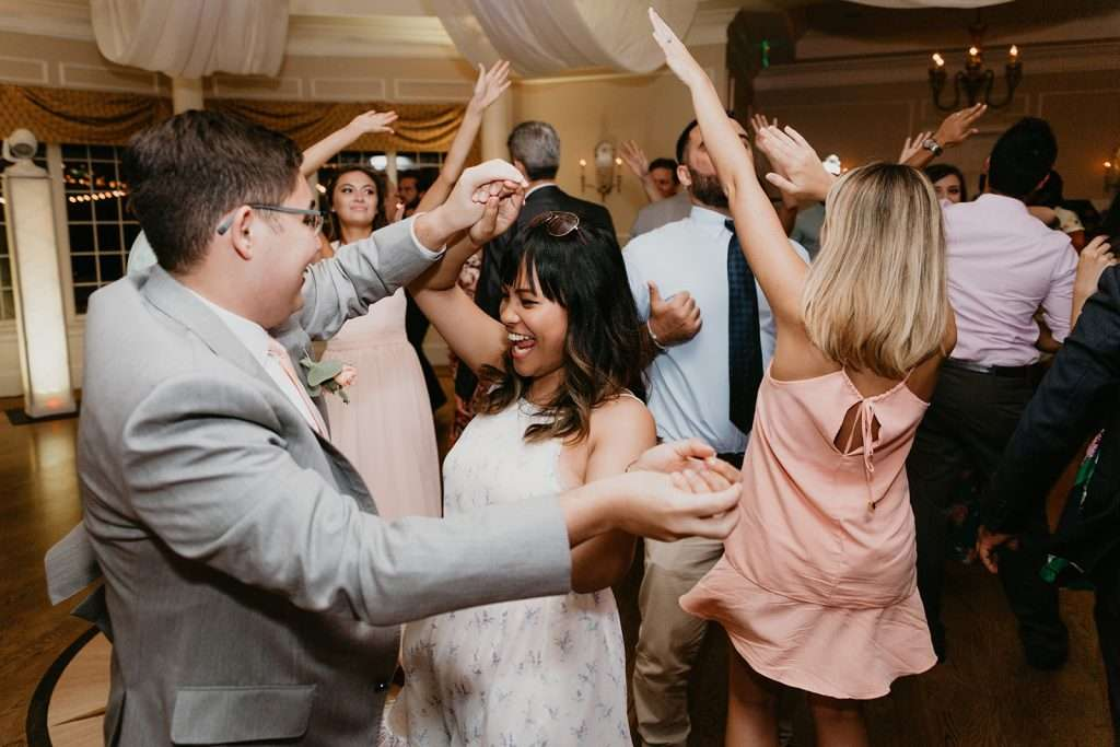 Dance party at River House wedding