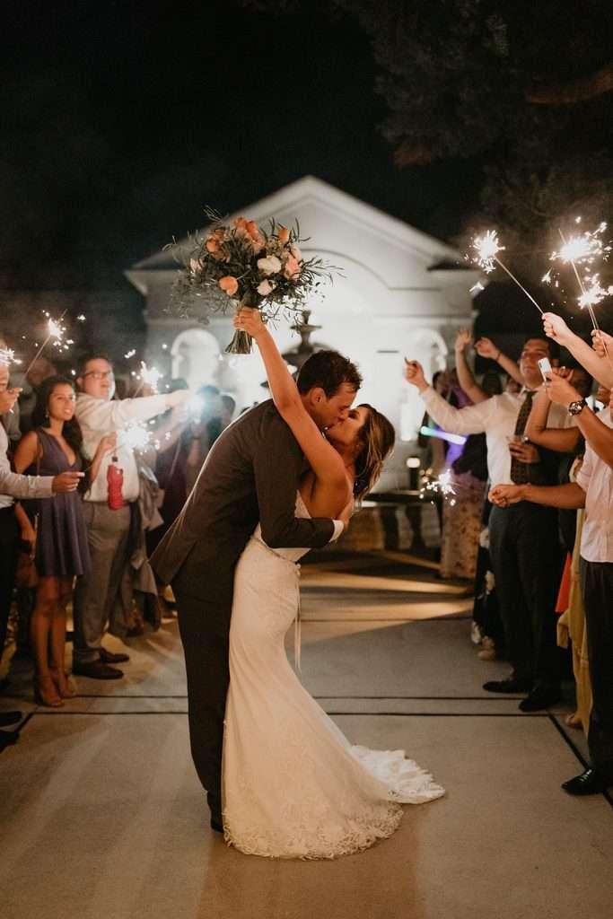 Sparkler Exit at River House wedding