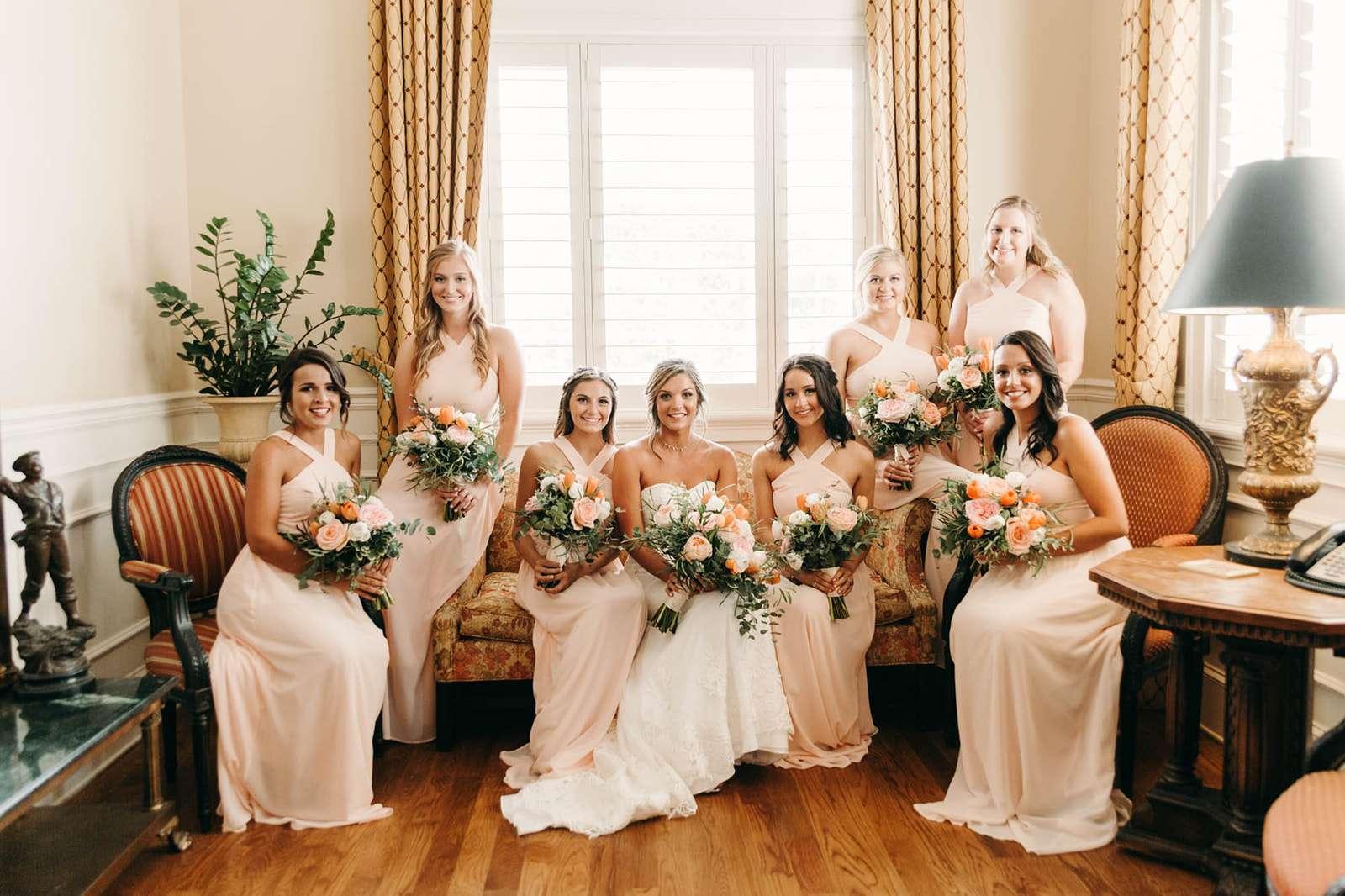 Bridesmaids at River house wedding