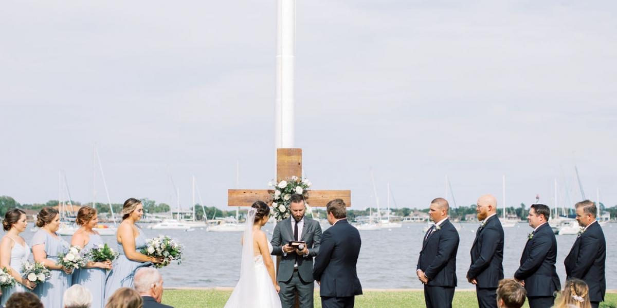 St. Francis barracks Wedding, The Eventful Gals, Outdoor ceremony, St. Augustine Wedding